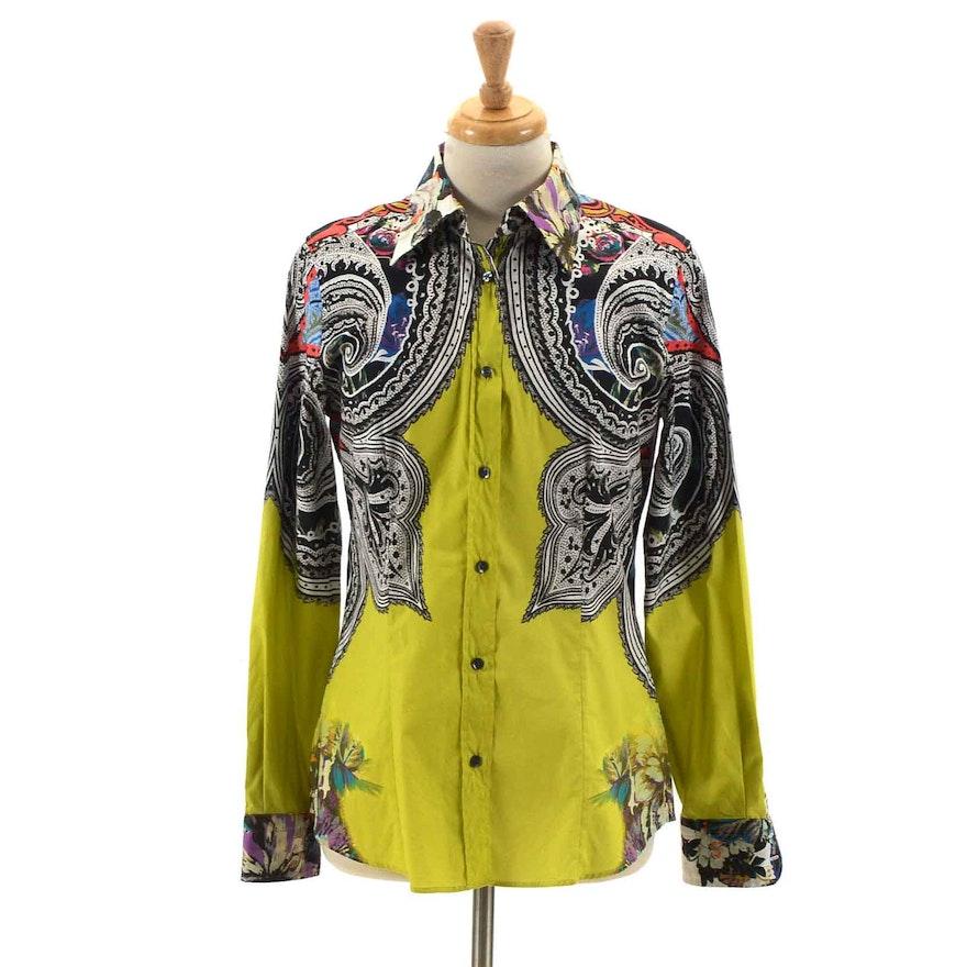 f14c72a89 Etro Paisley Women's Button Down Shirt : EBTH