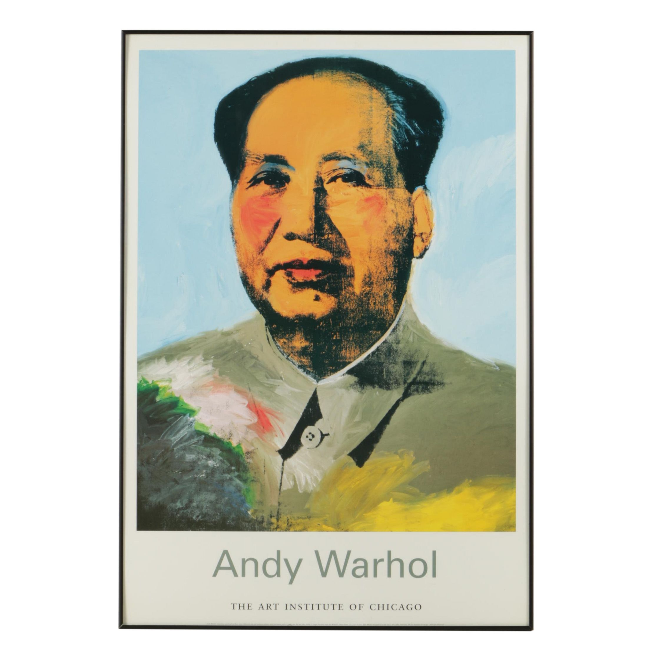 """Offset Lithograph Poster After Andy Warhol """"Mao"""""""