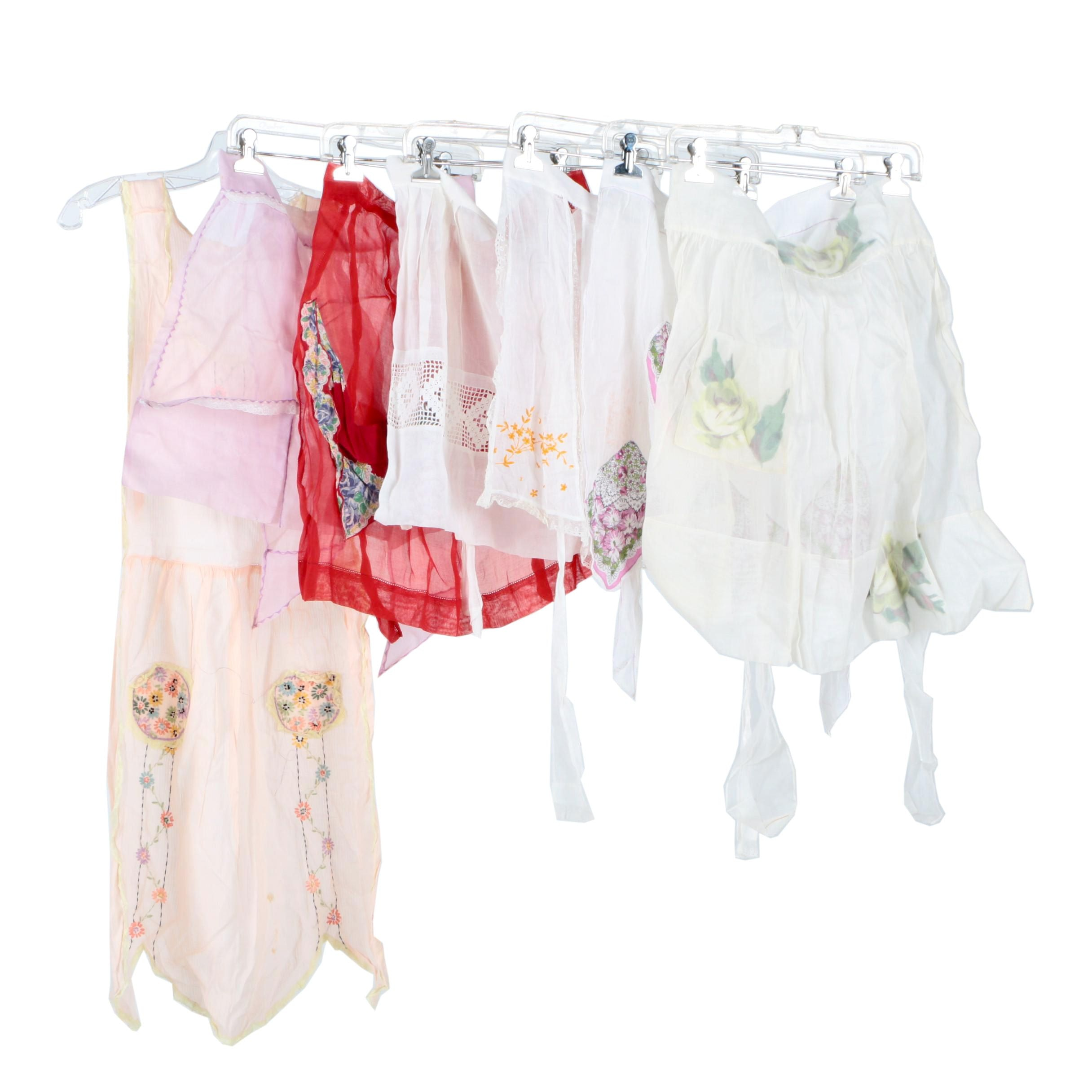 Vintage Lace and Embroidered Aprons