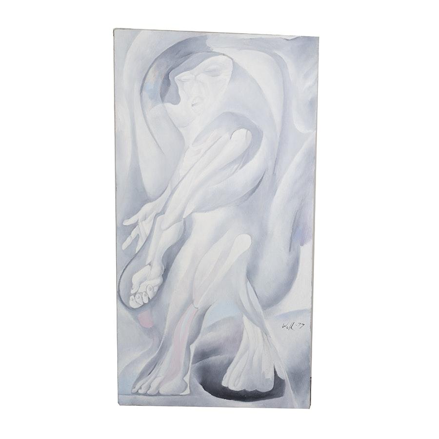 "David Walker Acrylic on Canvas ""Agony"""