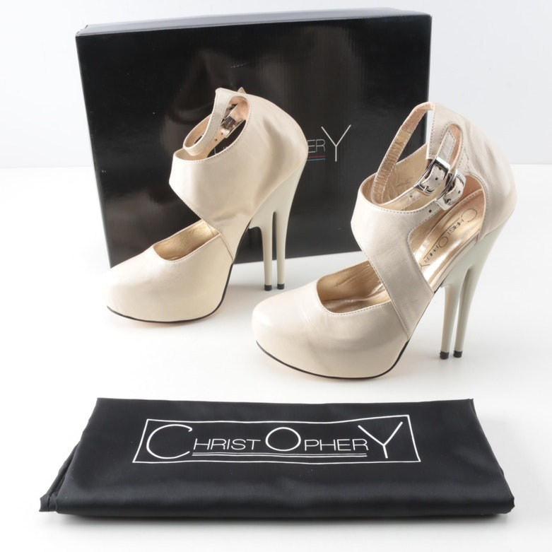 Christopher Coy Collection Prototype Heels in Off-White
