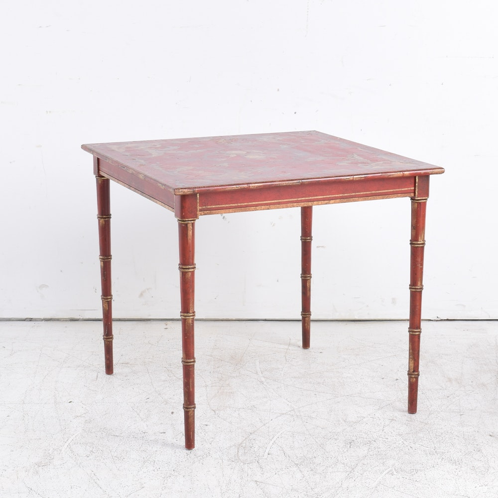 Hand-Painted Chinoiserie Card Table