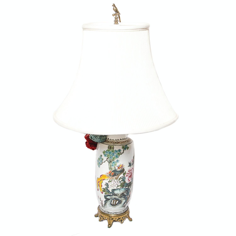 Asian Inspired Porcelain Table Lamp
