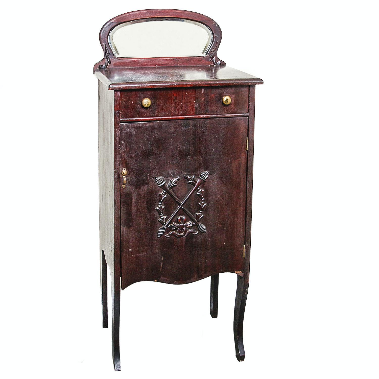 Antique Mahogany Music Cabinet
