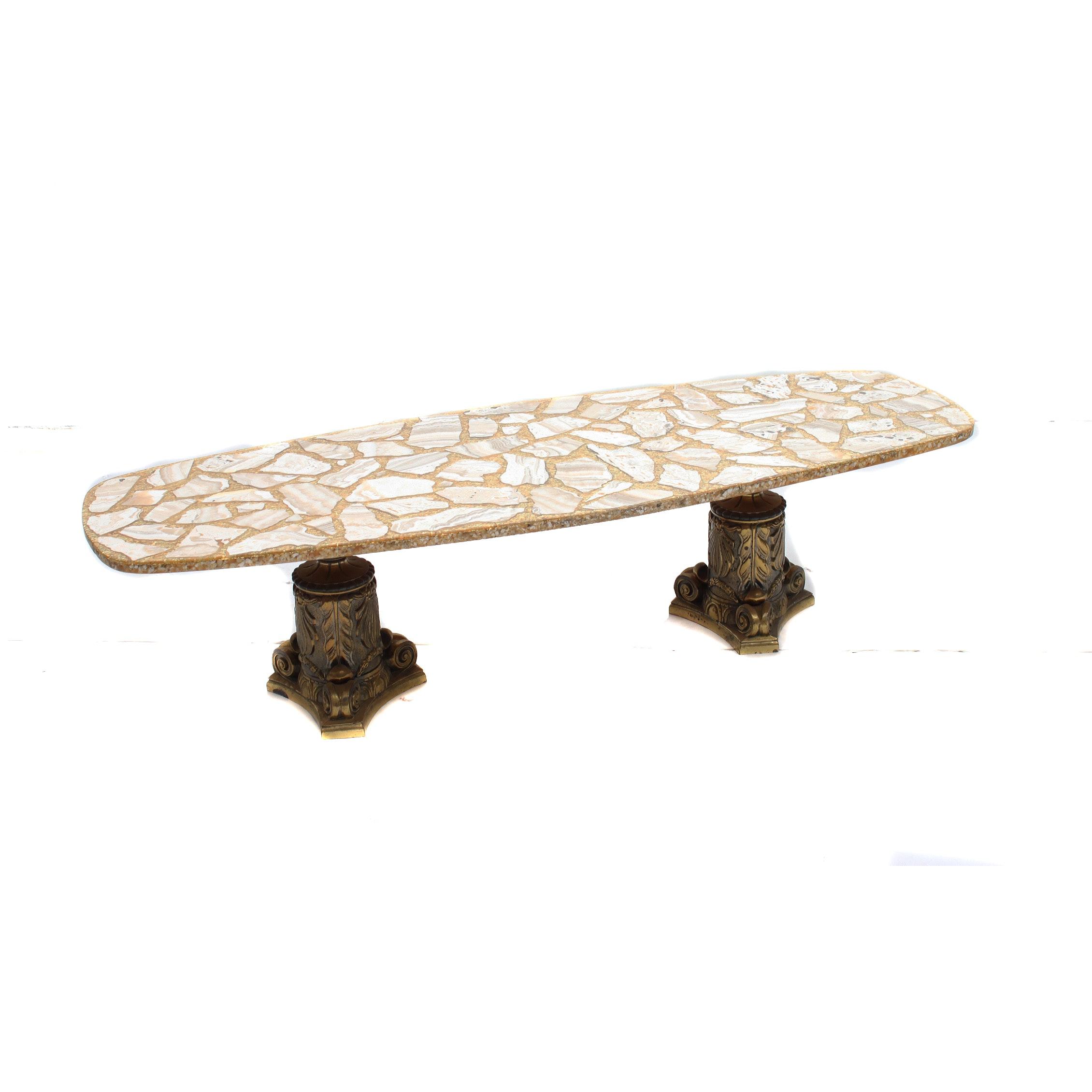 Arturo Pani Style Mid Century Modern Surfboard Coffee Table
