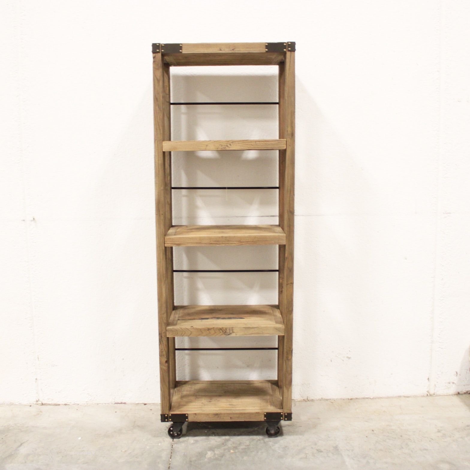 Industrial Style Wood Shelving