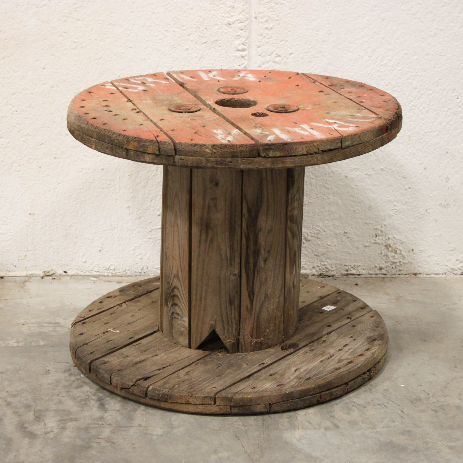Industrial Style Wooden Spool Table