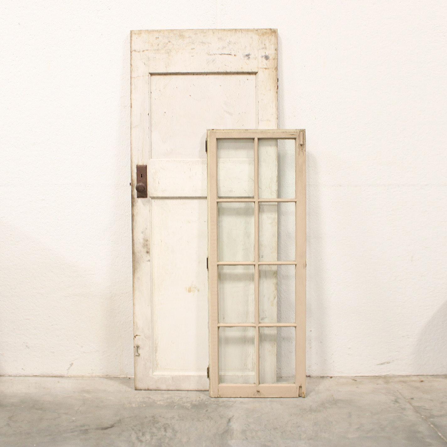 Vintage Wooden Door and Window Pane