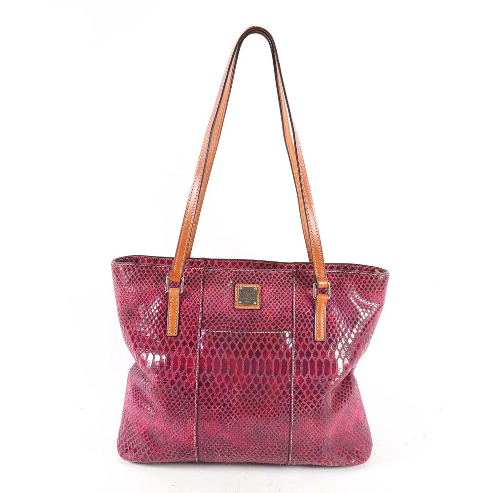 Dooney & Bourke Embossed Suede Tote Bag