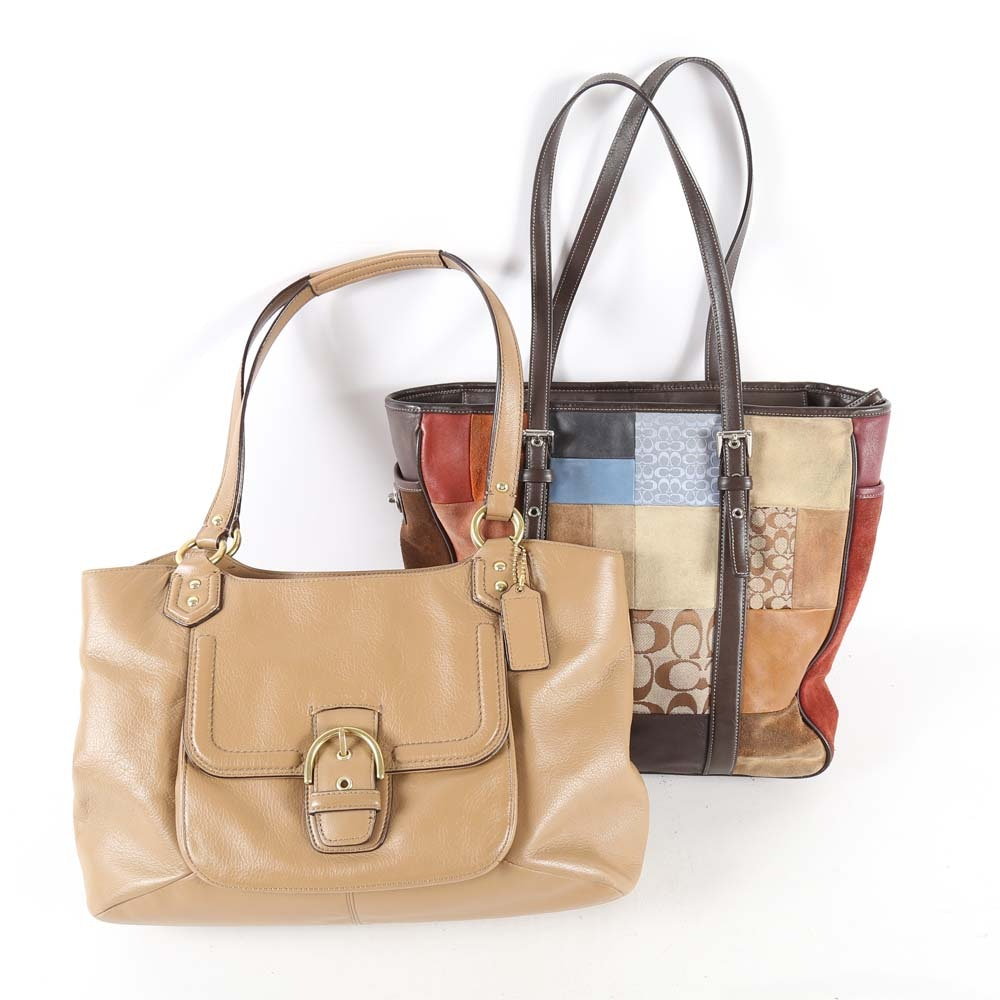 Coach Campbell Belle Carryall and Signature Patchwork Tote