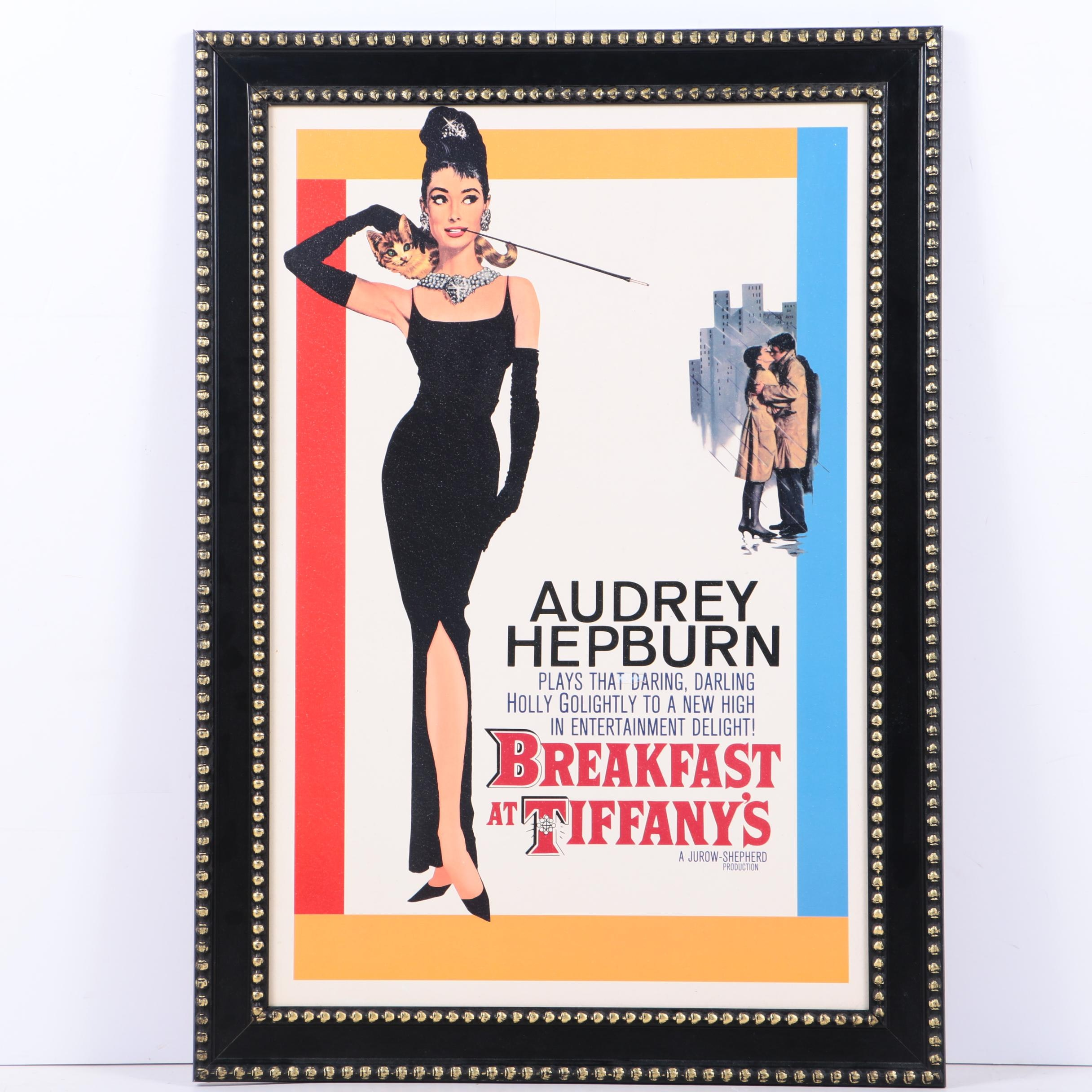 "Embellished Reproduction Movie Poster ""Breakfast at Tiffany's"""