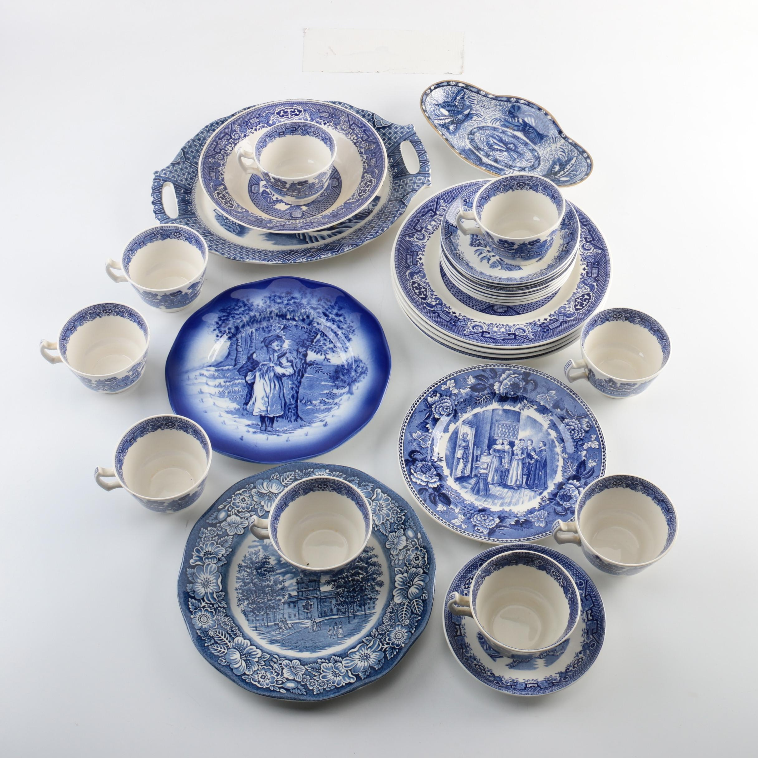 Blue and White Porcelain Featuring Wood & Sons