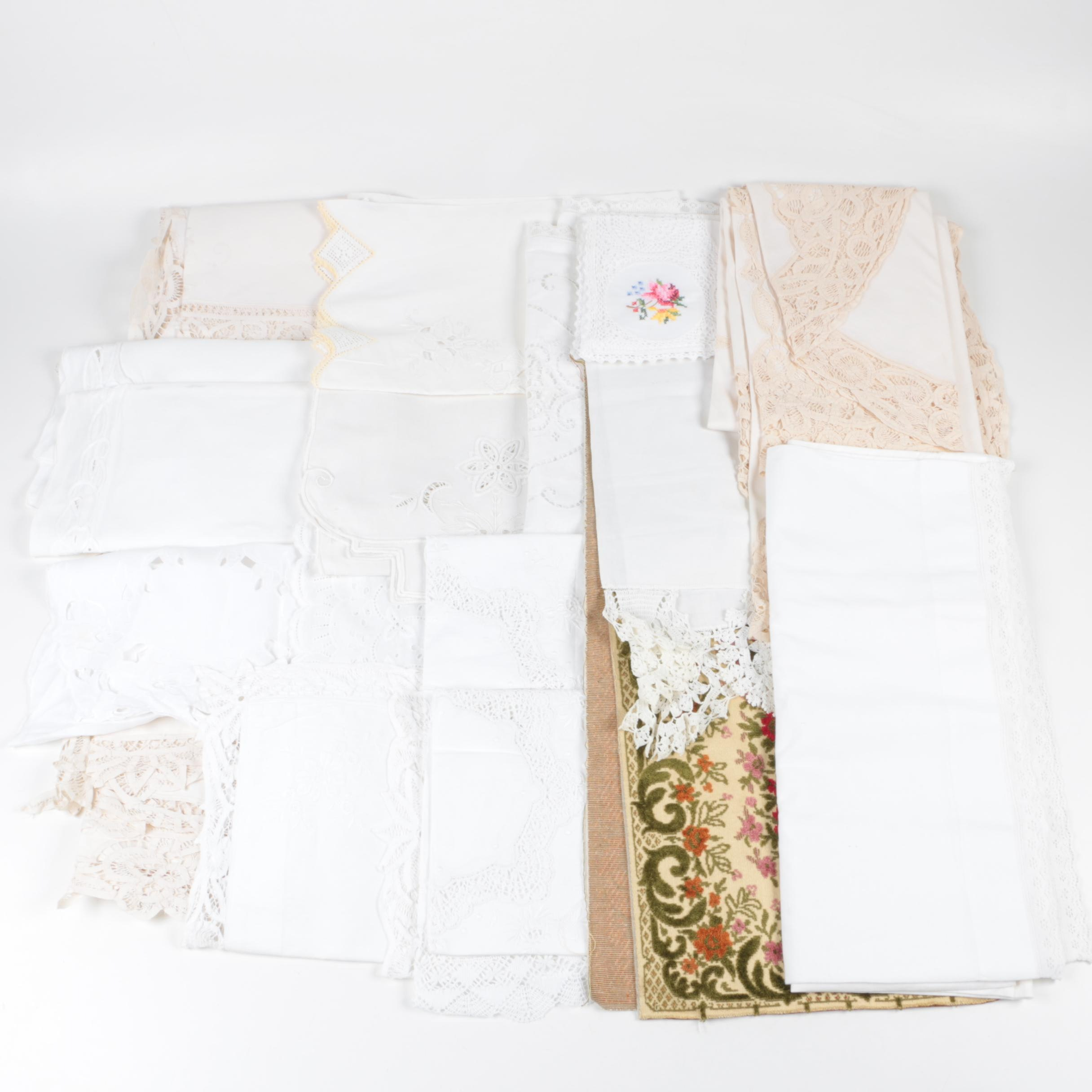 Cotton and LInen Table runners