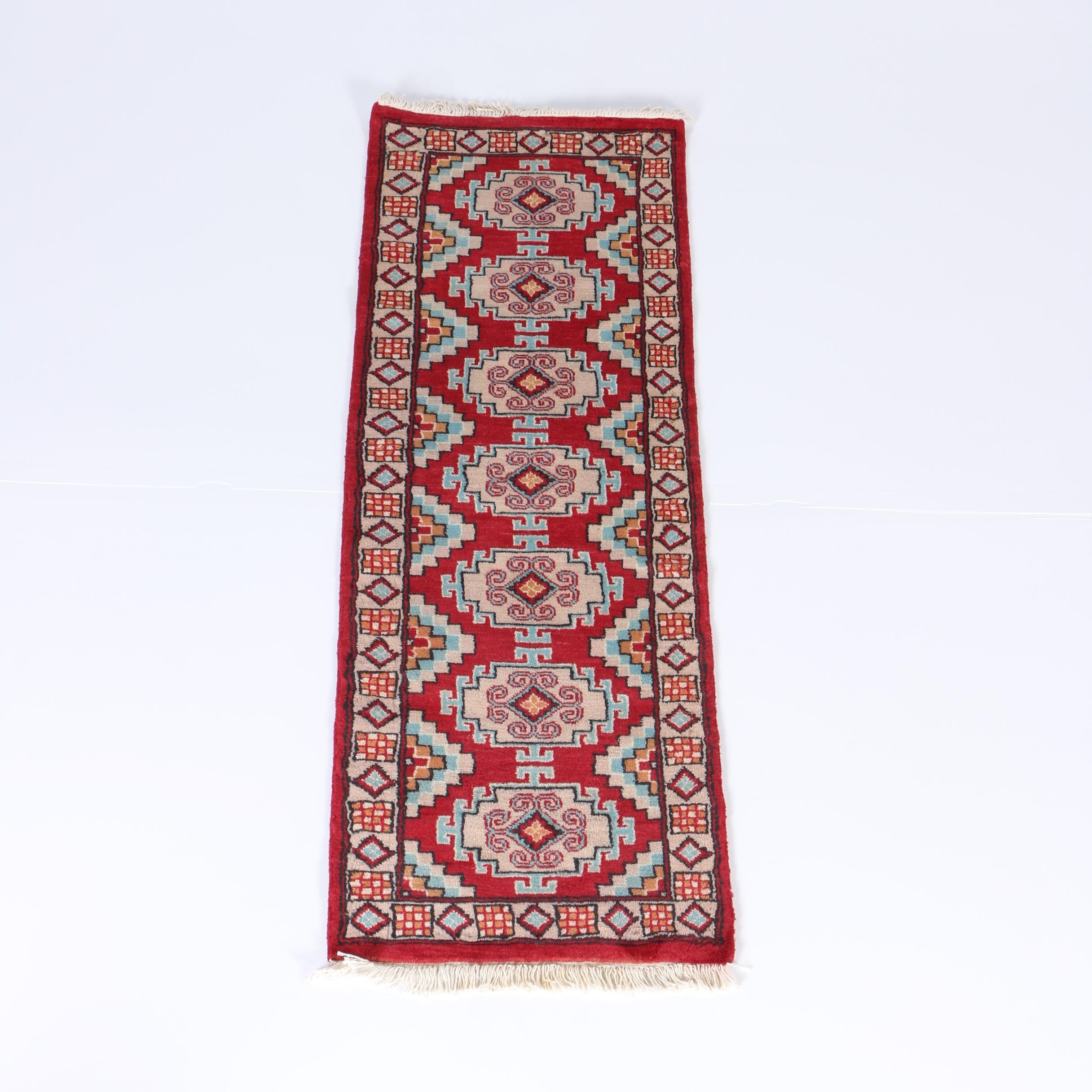 Hand-Knotted Iraqi Kurdish Carpet Runner