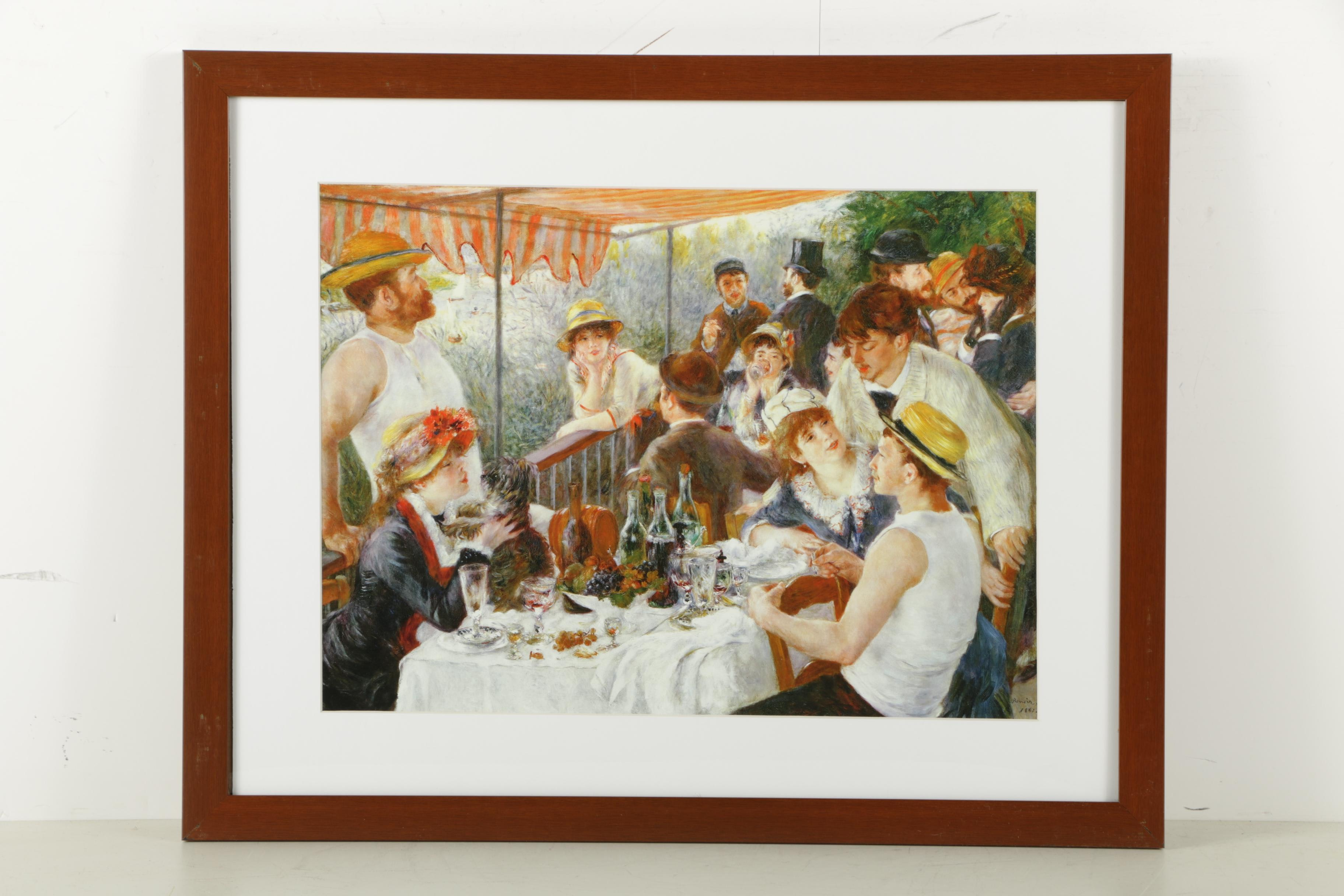 "Giclee Print After Renoir's ""Luncheon of the Boating Party"""