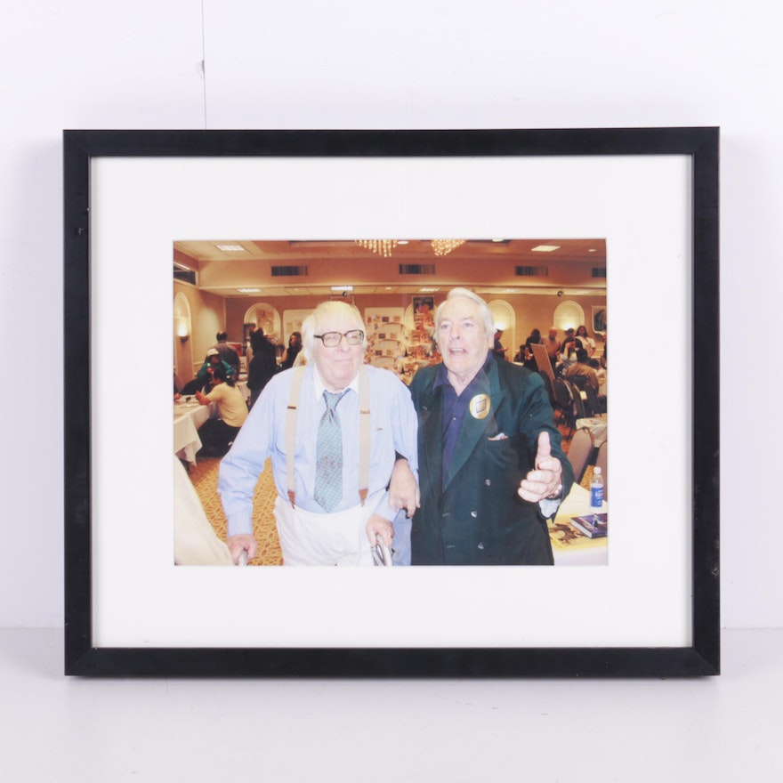 Photograph of Actor Kevin McCarthy and Author Ray Bradbury