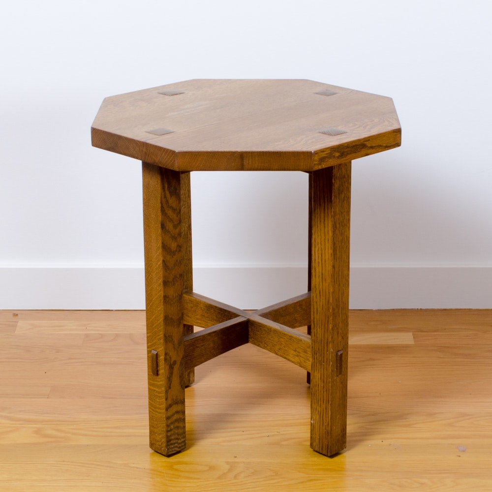 Vintage Oak Side Table by Stickley
