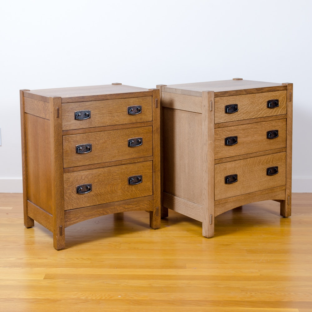 2 Arts and Crafts Style Oak Nightstand by Stickley