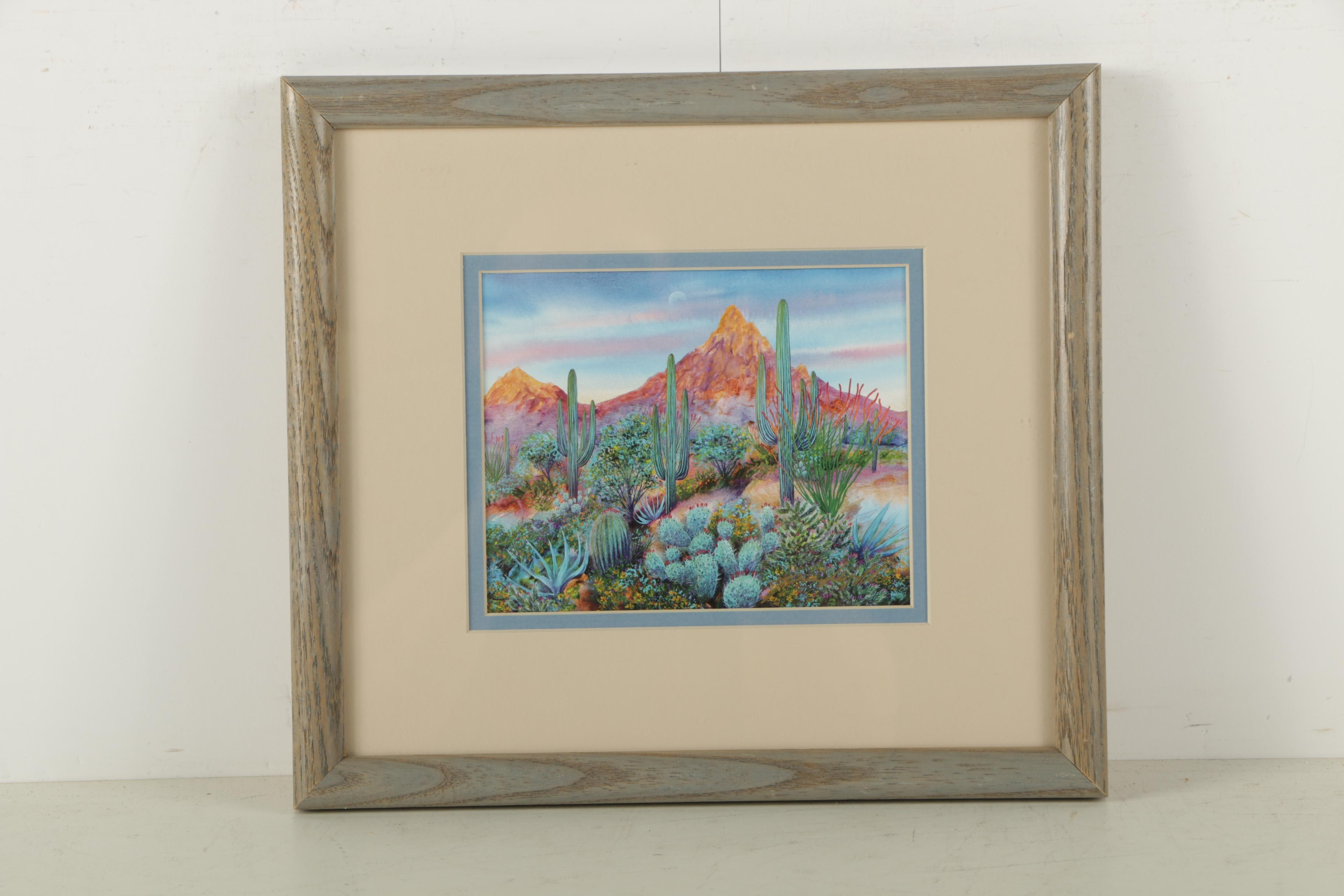 "Print on Paper ""Pinnacle Peak Foothills"" after Jim Prindiville"