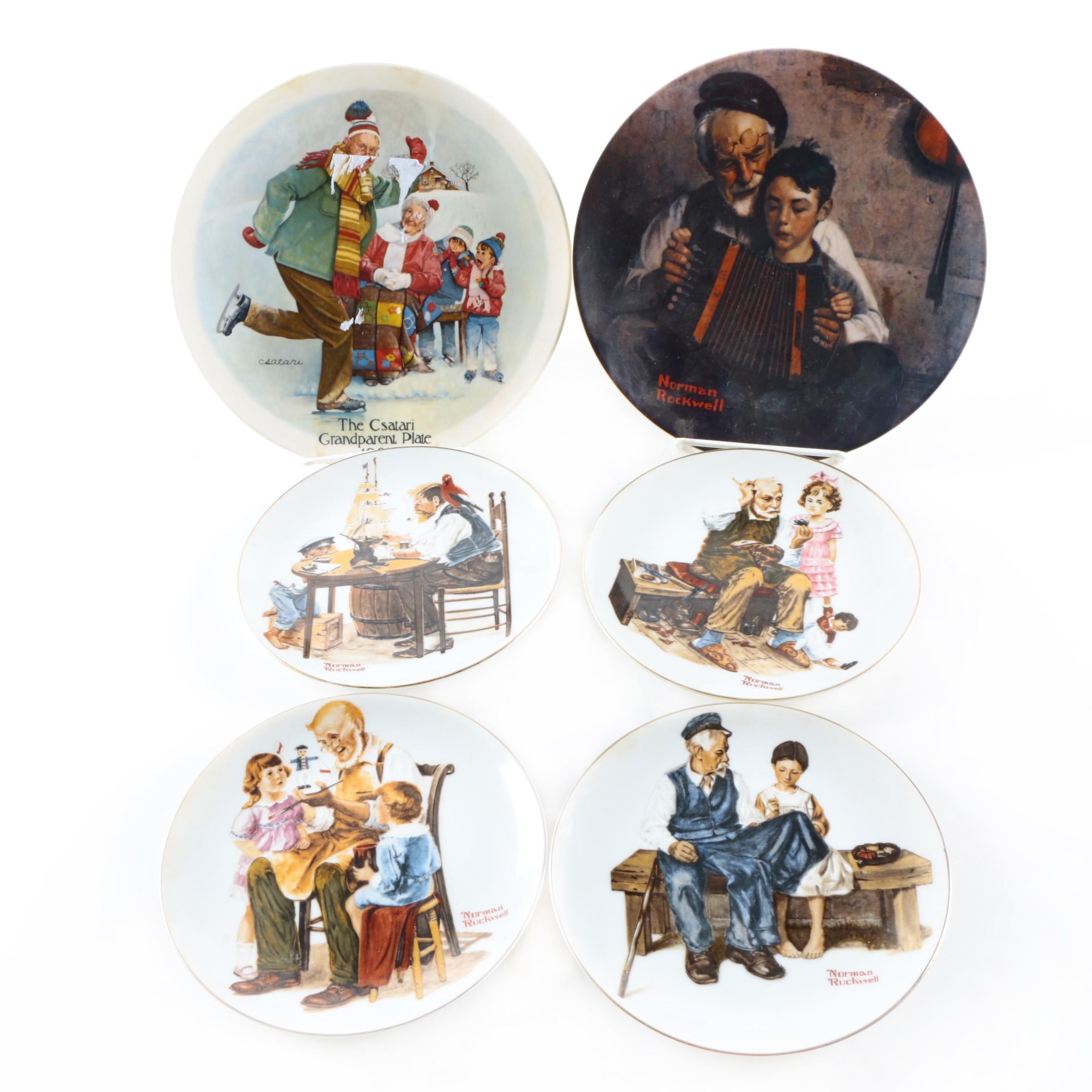 Csatari and Rockwell Artwork Decorative Plates