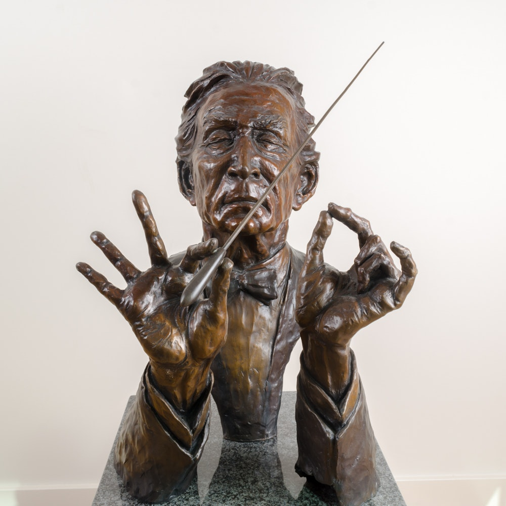 "Jo Saylors Limited Edition Bronze Sculpture ""Conductor"""