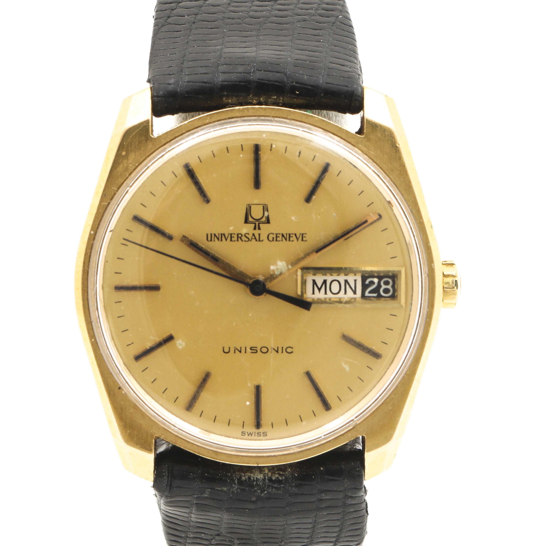 Universal Geneve Unisonic 18K Yellow Gold Wristwatch