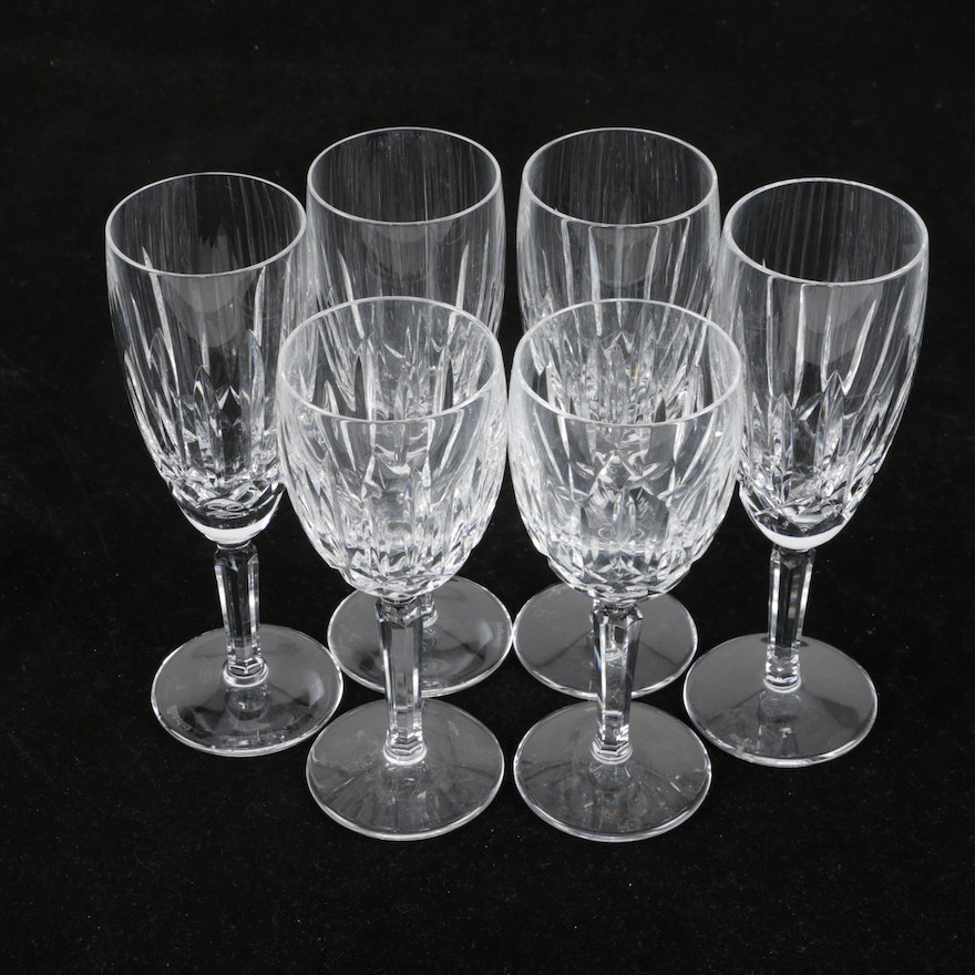 Waterford crystal kildare champagne and claret stemware ebth - Wedgwood crystal wine glasses ...