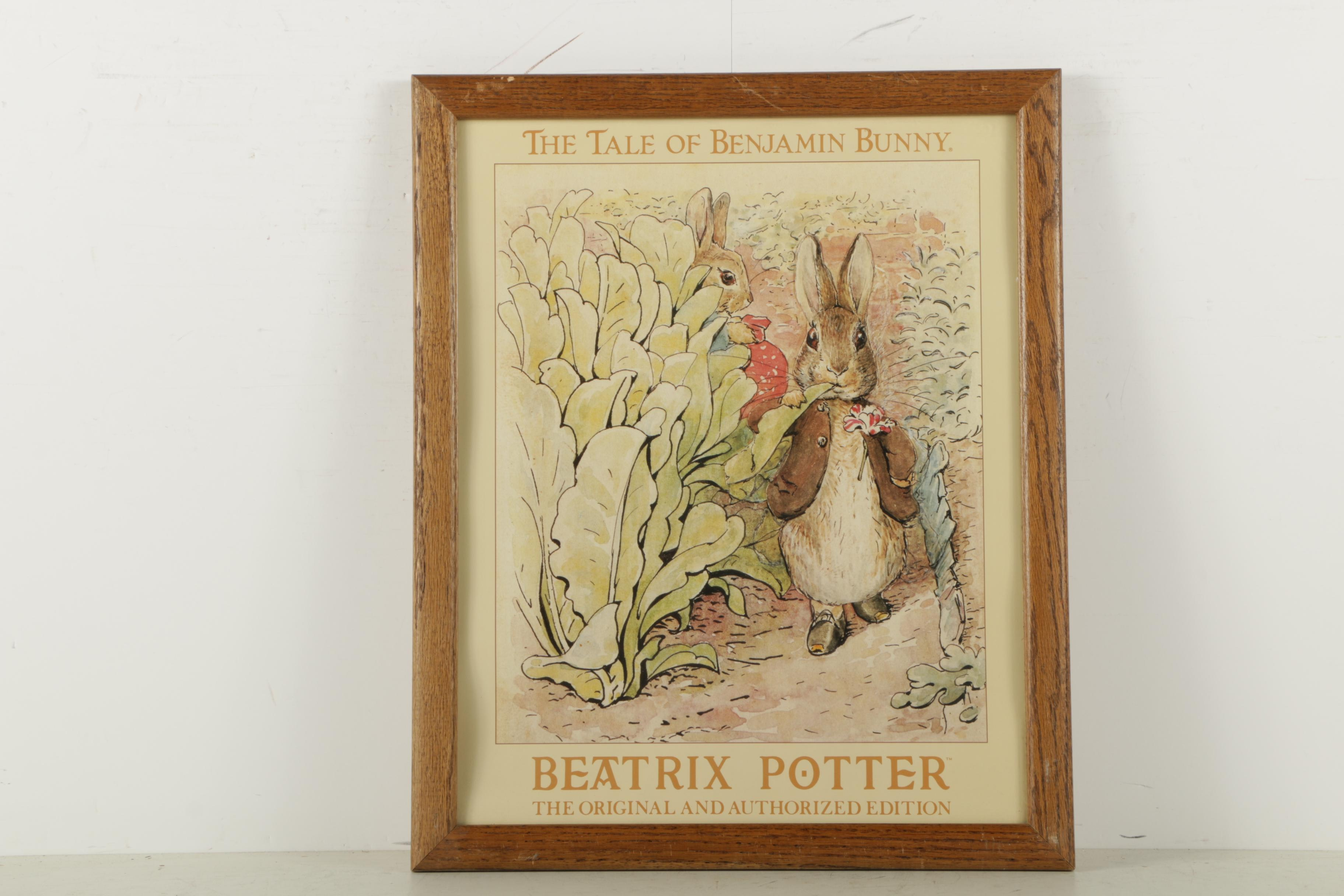"Offset Lithograph After Beatrix Potter ""The Tale of Benjamin Bunny"""