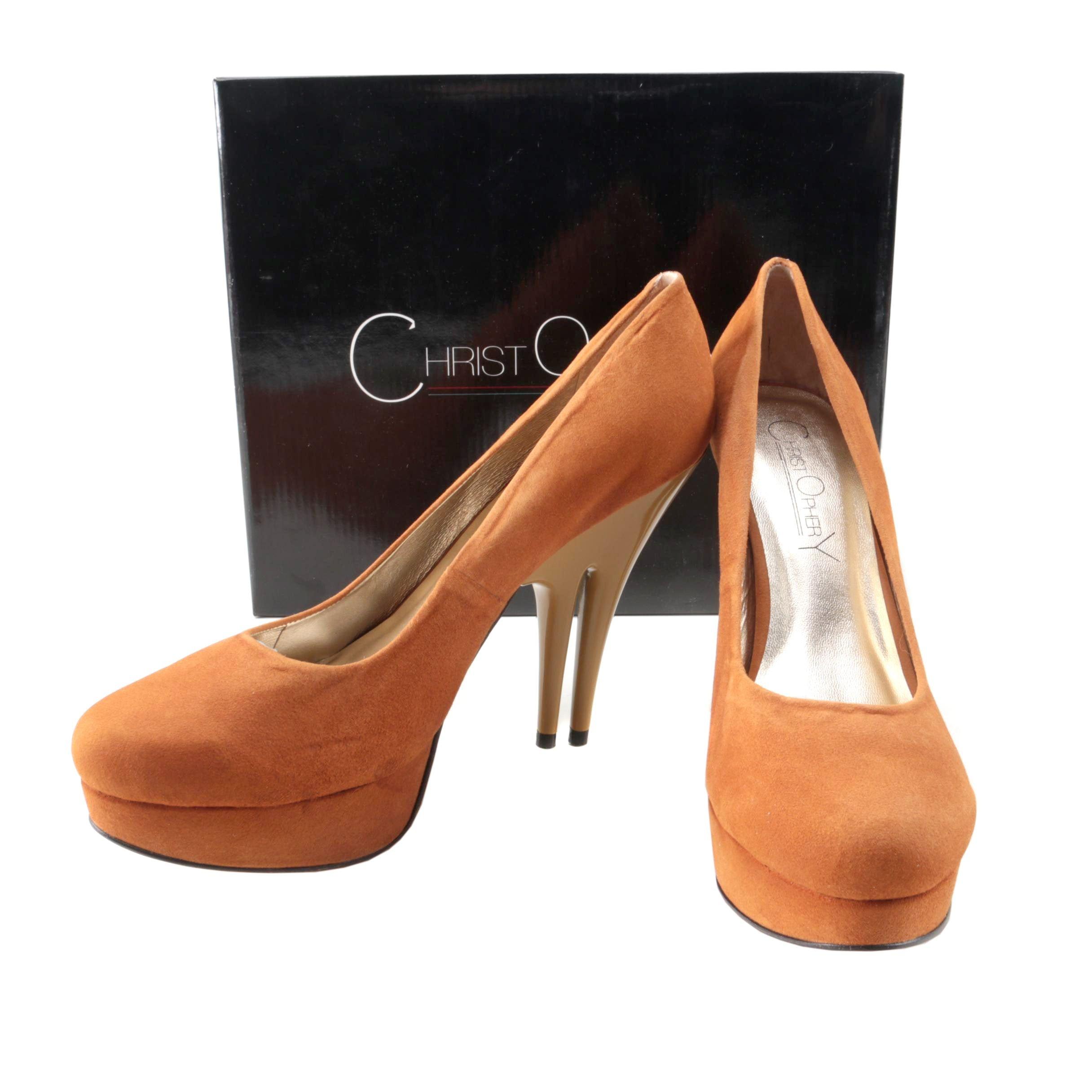 Christopher Coy Collection Prototype Heels in Tan Suede
