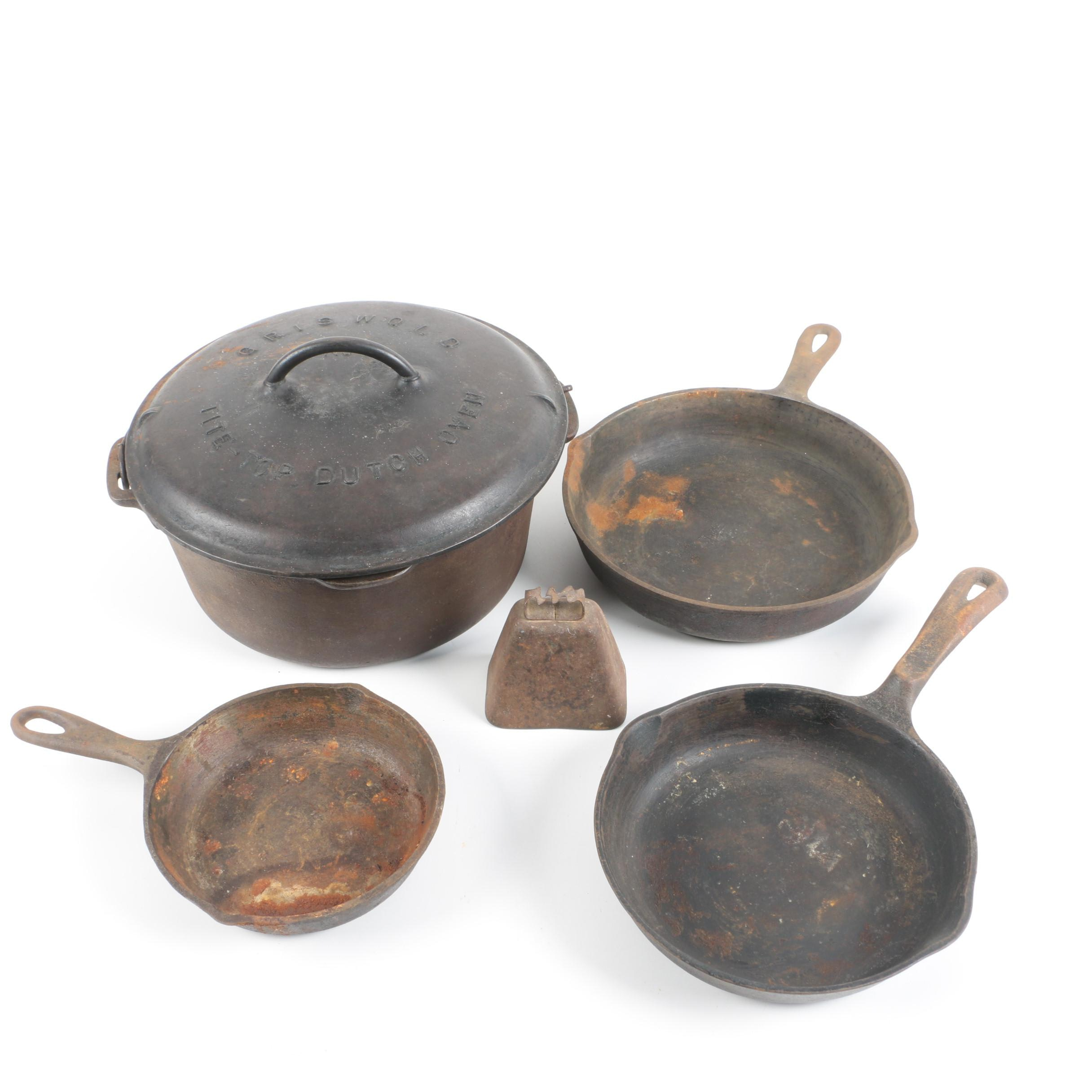 Cast Iron Cookware Featuring Griswold