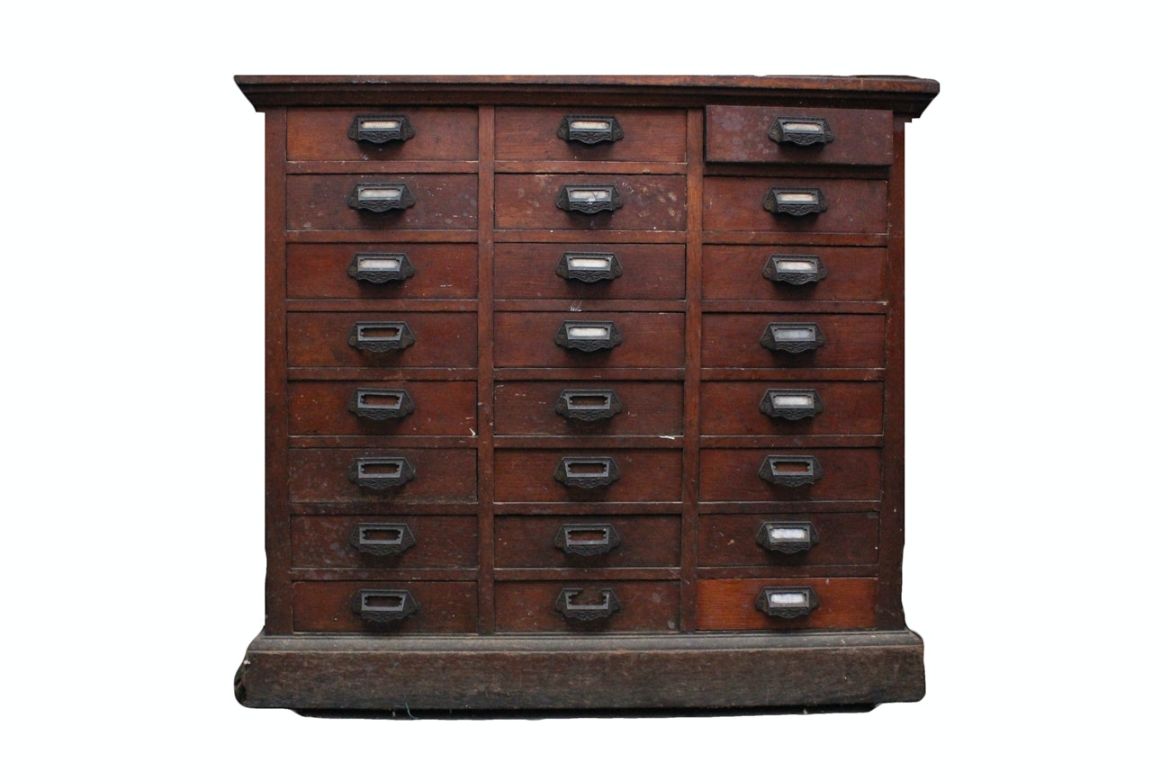 Genial Vintage Wooden Apothecary Cabinet ...