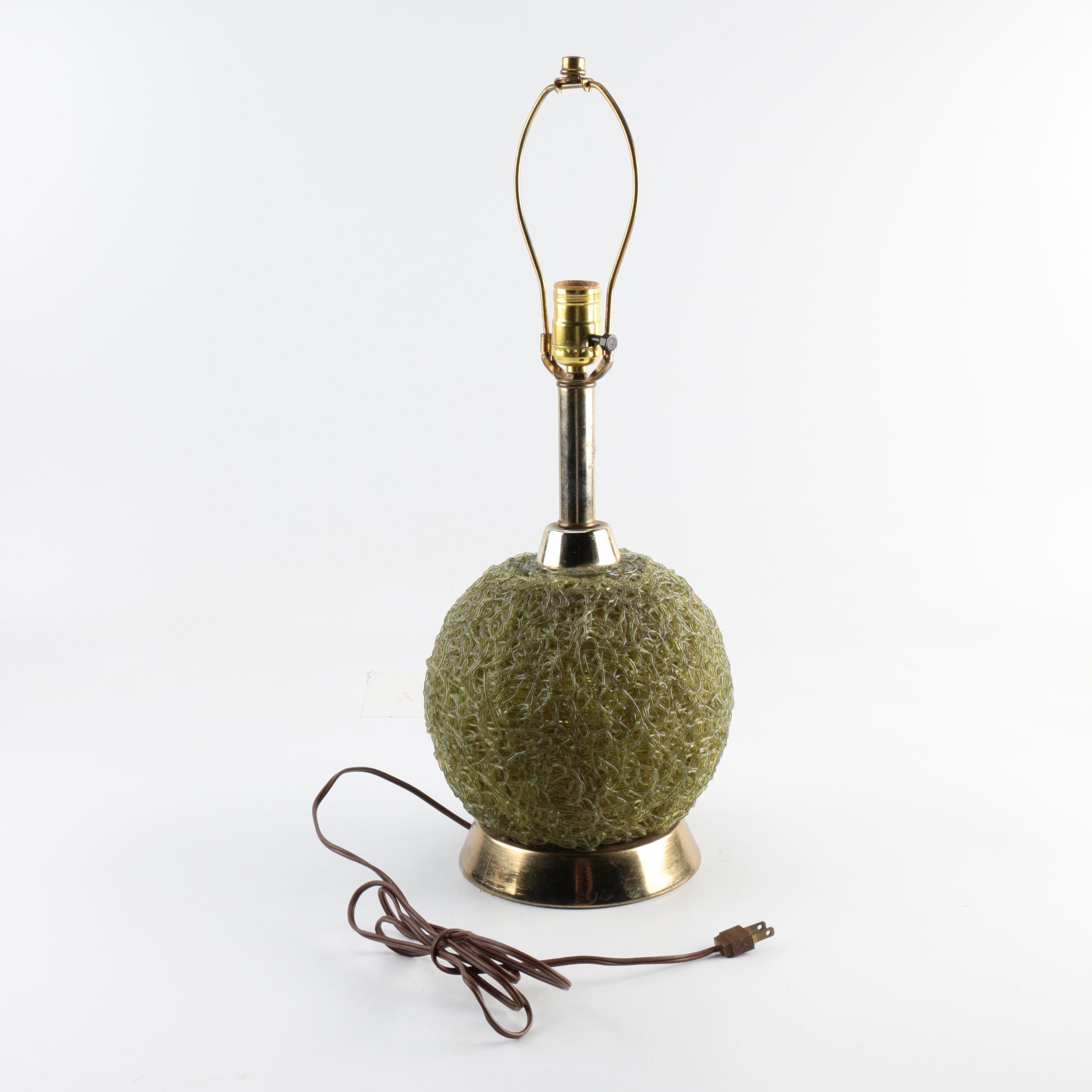 Mid Century Modern Spun Acrylic Table Lamp
