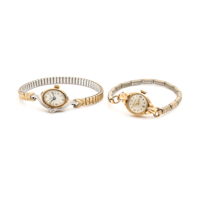 Selection of Bulova 10K Rolled Gold Plate, Diamond and Gold Filled Wristwatches