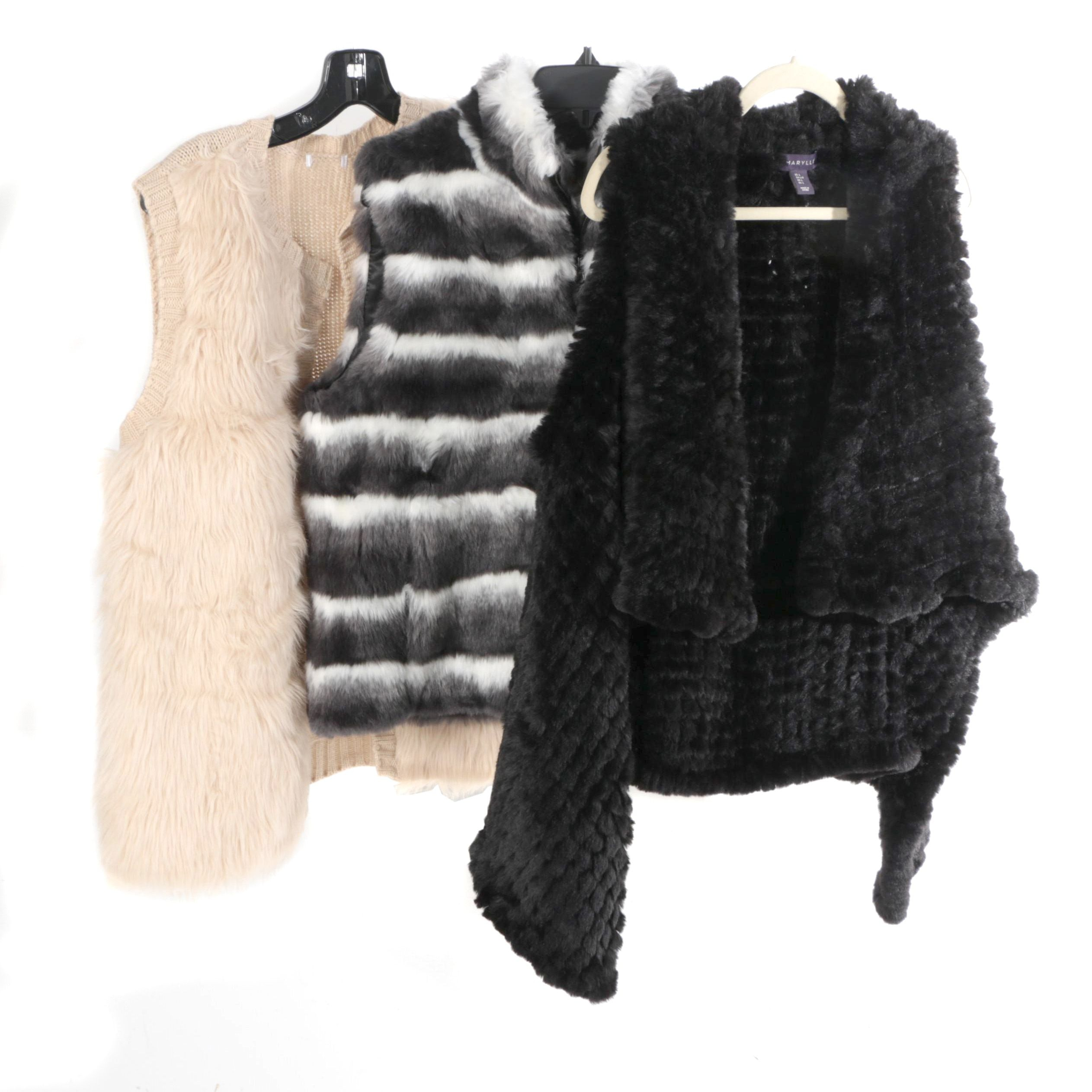 Women's Faux Fur Vests Including Annabelle New York