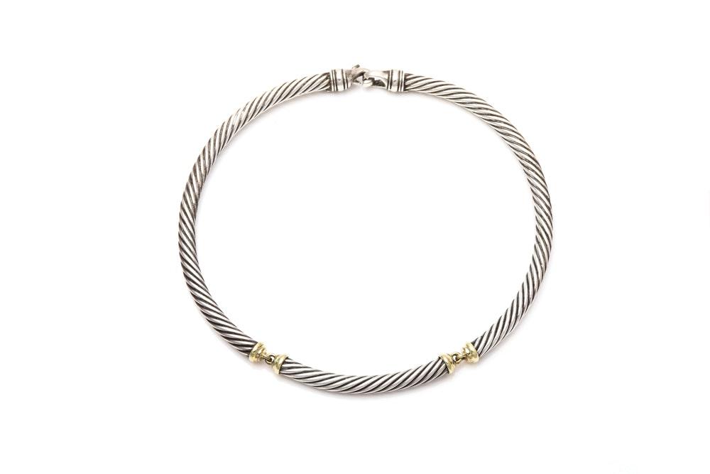 "David Yurman ""Cable Classics"" Sterling Silver Necklace"