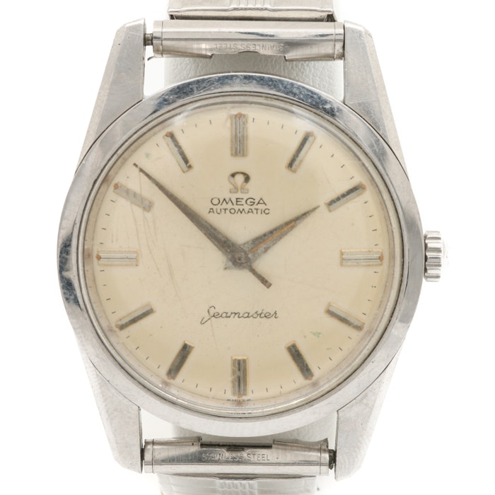 Omega Automatic Seamaster Stainless Steel Expansion Link Wristwatch