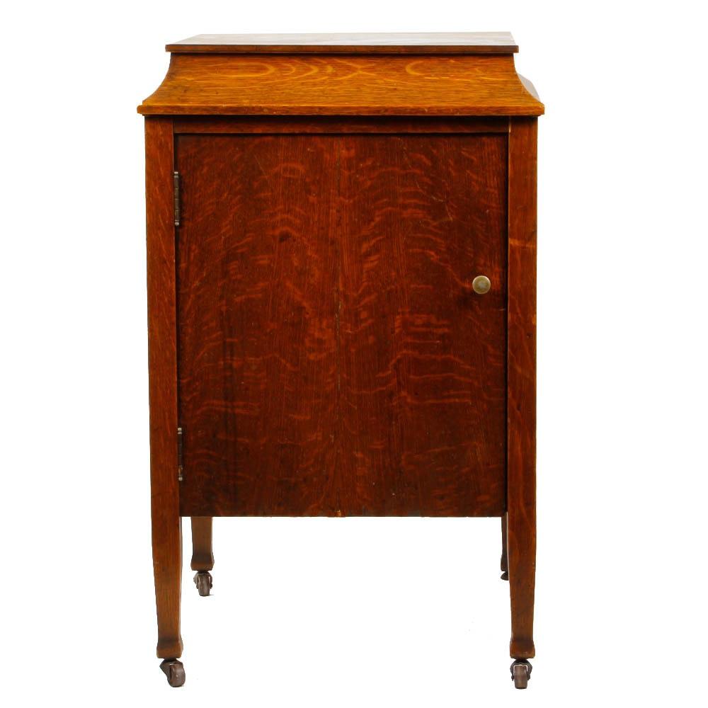 Antique Quarter-Sawn Oak Sheet Music Cabinet