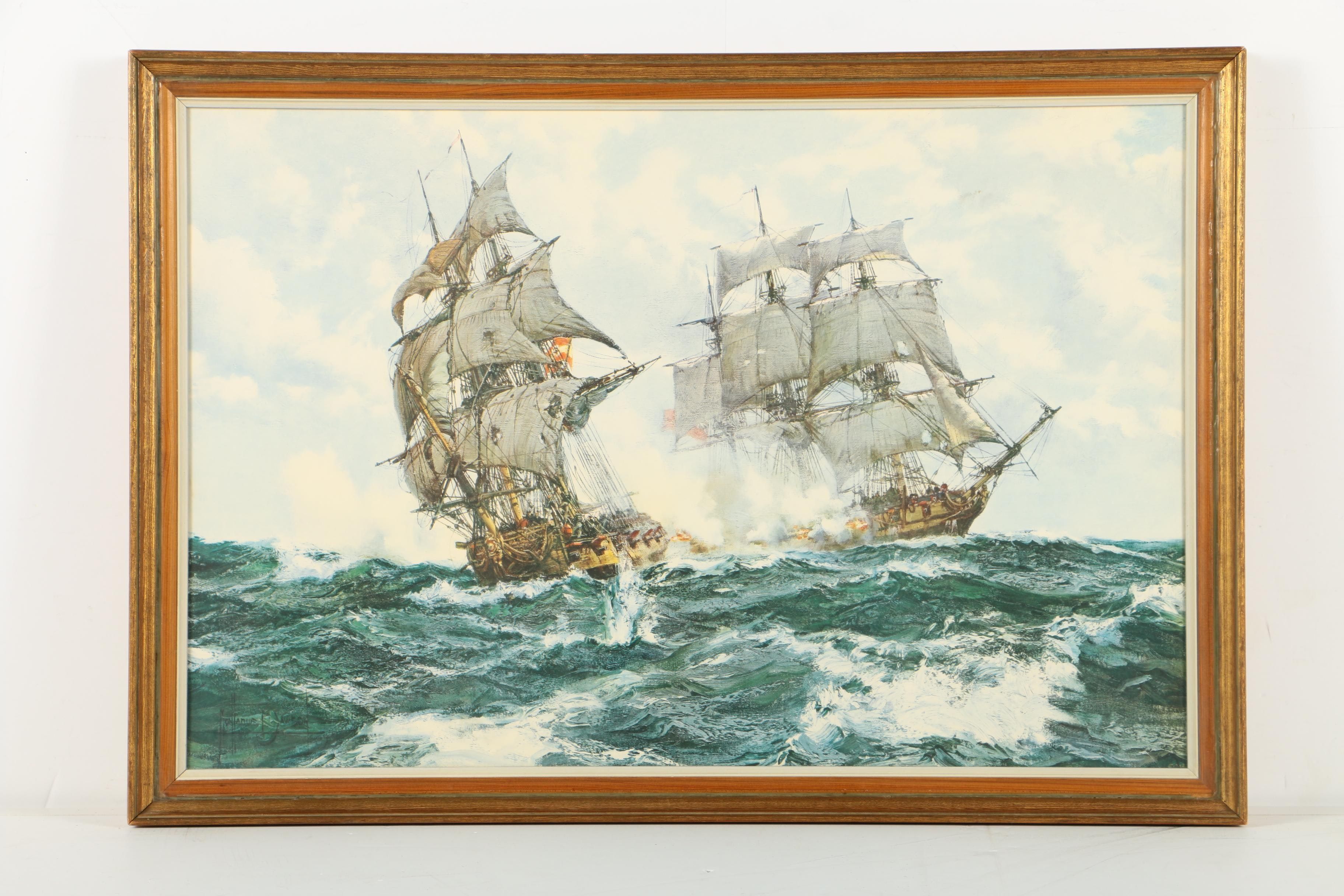 "Giclee Print After Montague Dawson ""The Days of Adventure"""