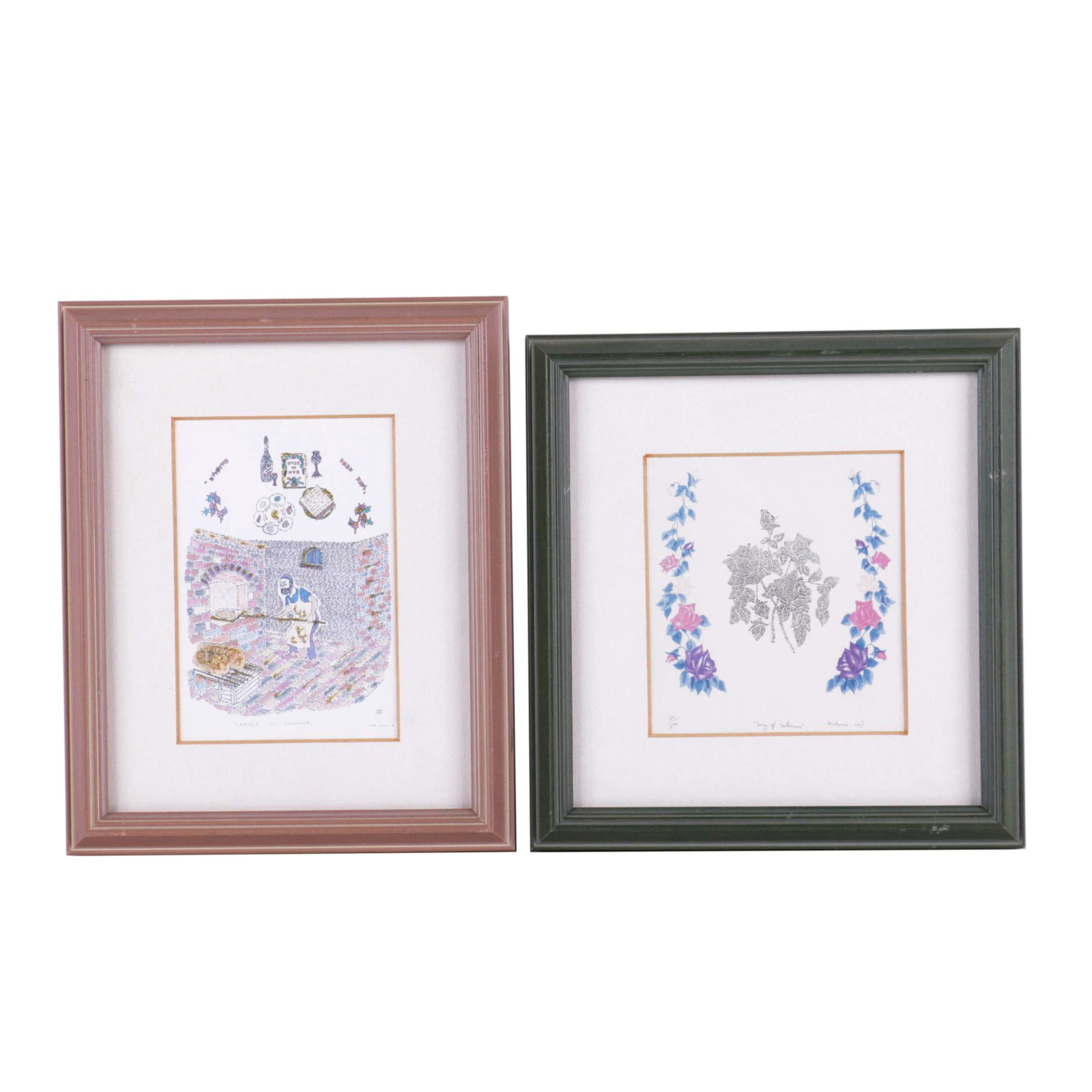 Two Offset Lithographs of Judaic Theme