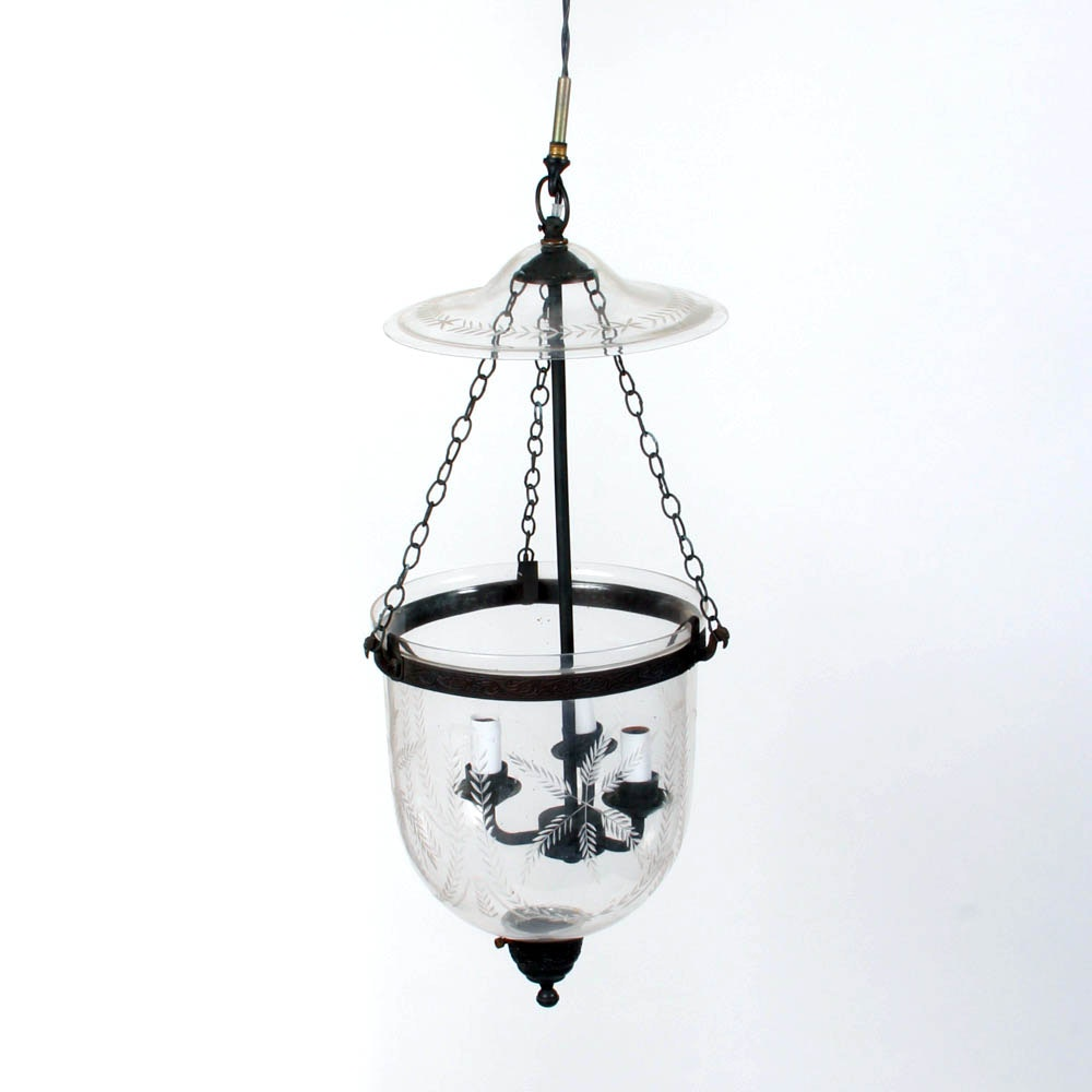 Hundi Glass Bell Jar Pendant Light