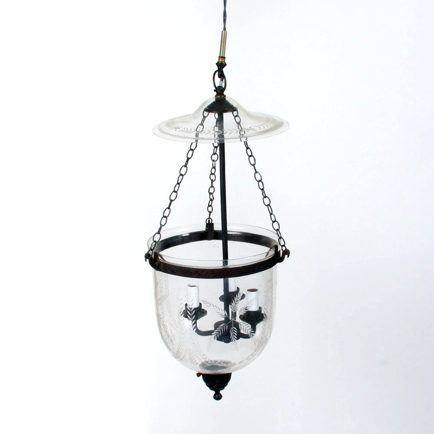 hundi glass bell jar pendant light ebth