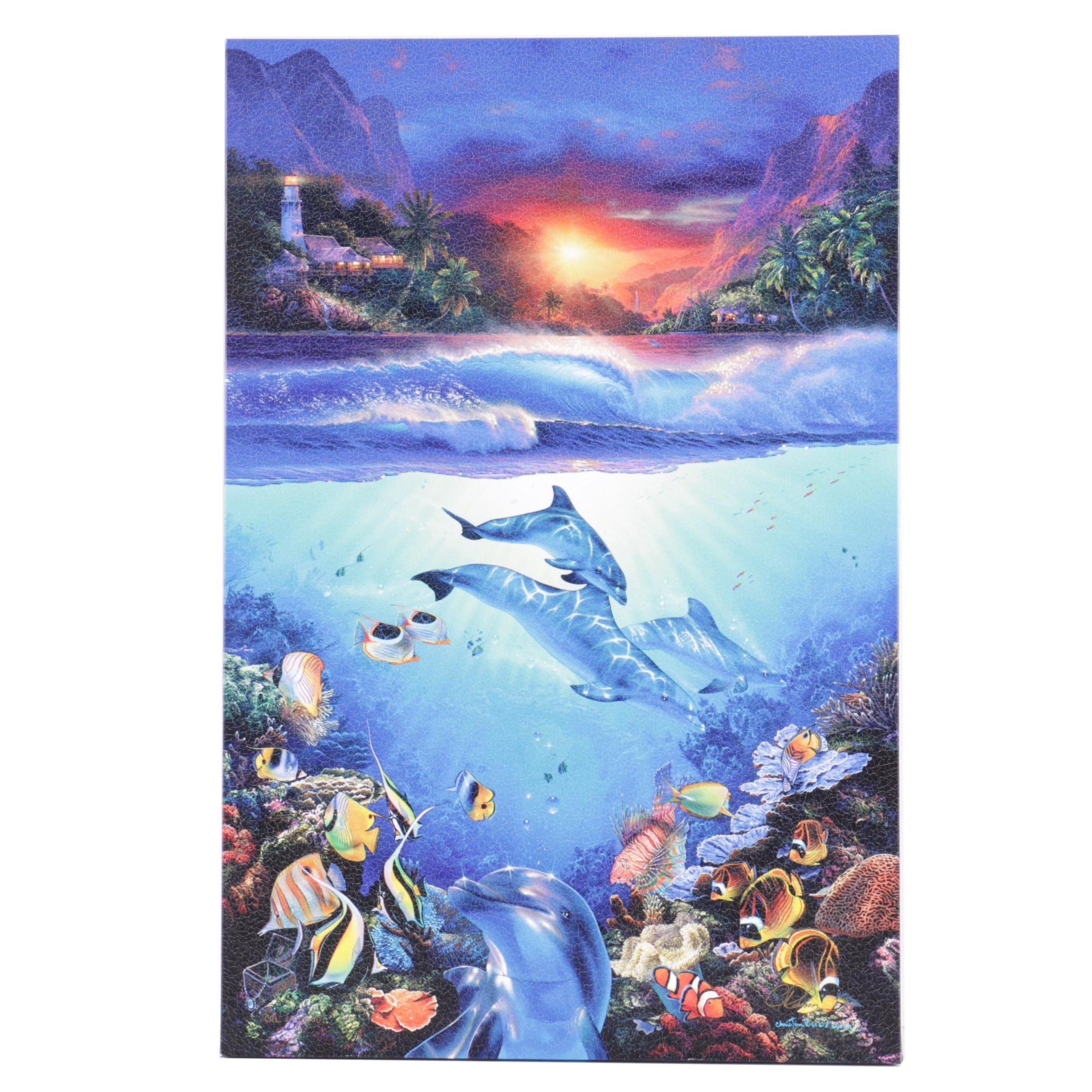 """Christian Riese Larison Limited Edition Giclee On Canvas """"Mystical Journey"""""""