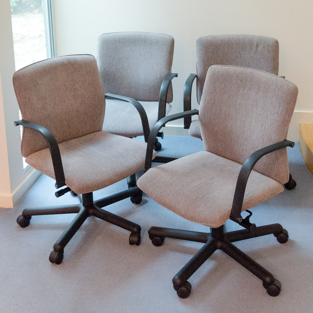 Set of Swivel Base Desk Chairs by Brayton