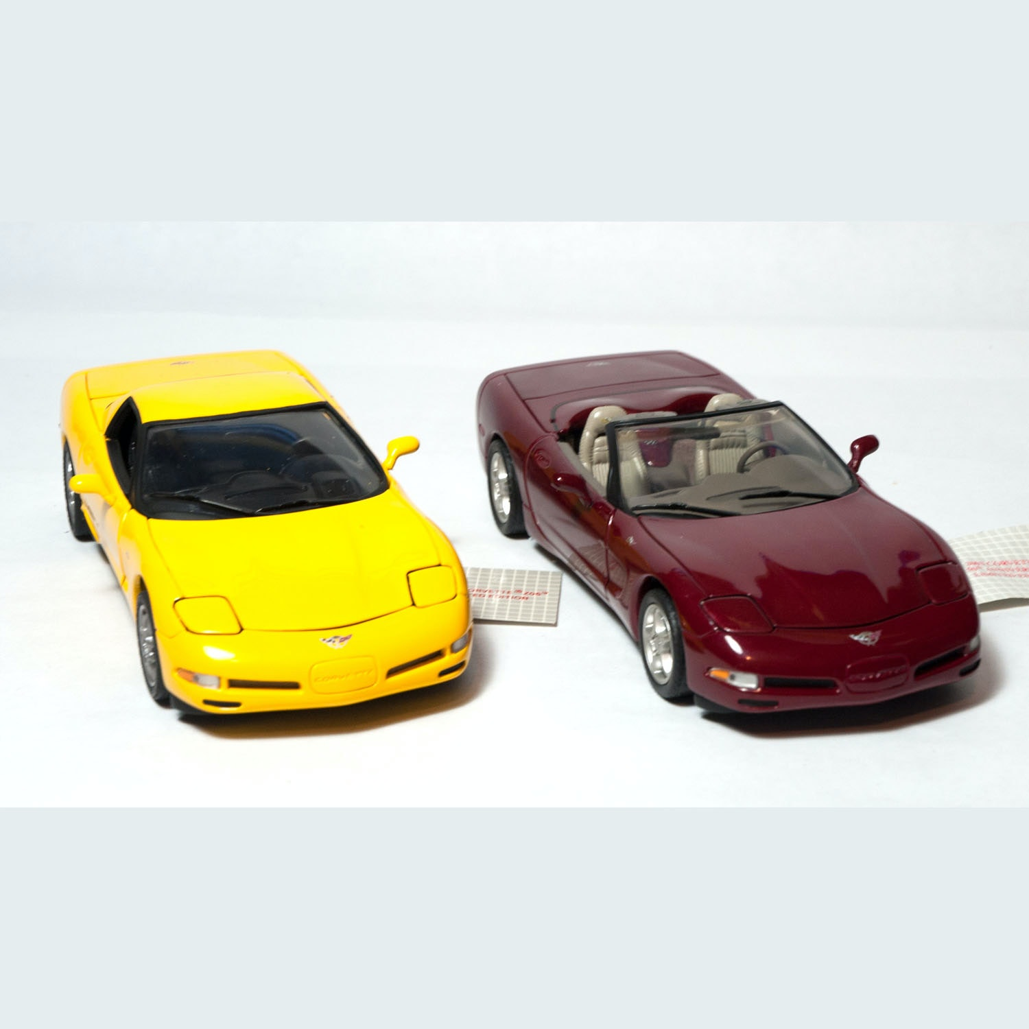 2003 Corvette Z06 and 50th Anniversary Franklin Mint Die Cast Models