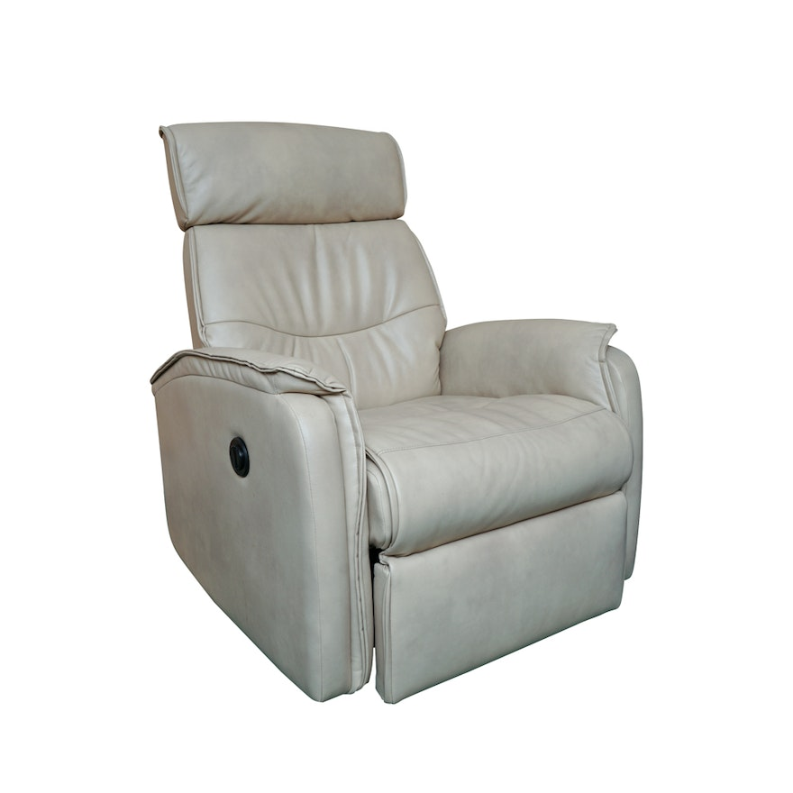 Electric Leather Reclining Chair By Leggett And Platt
