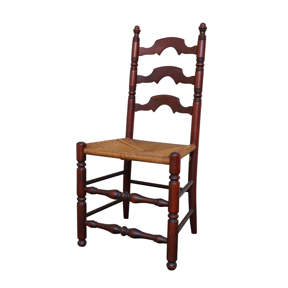 Ladder-back Side Chair With Rush Seat