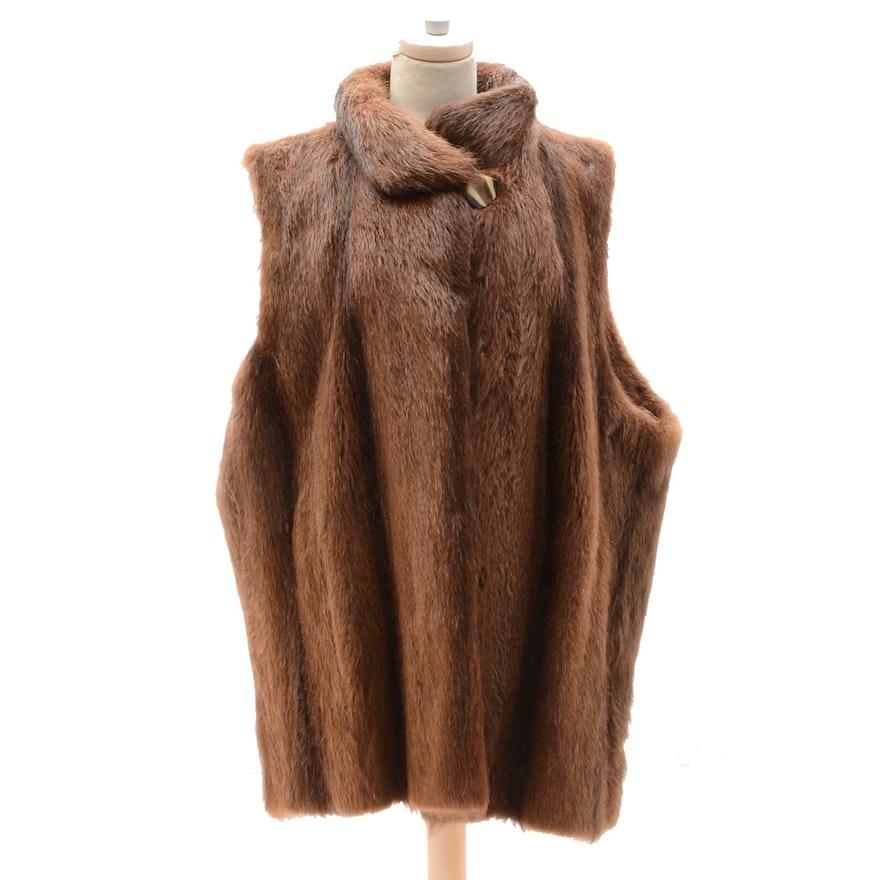 d09fdd373ab Vintage Yves Saint Laurent Nutria Fur Vest | EBTH