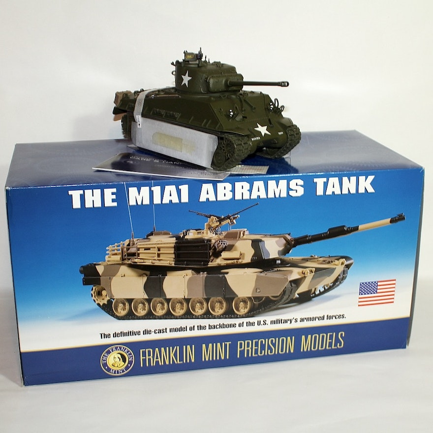 Military Tank Die Cast Replicas by The Franklin Mint