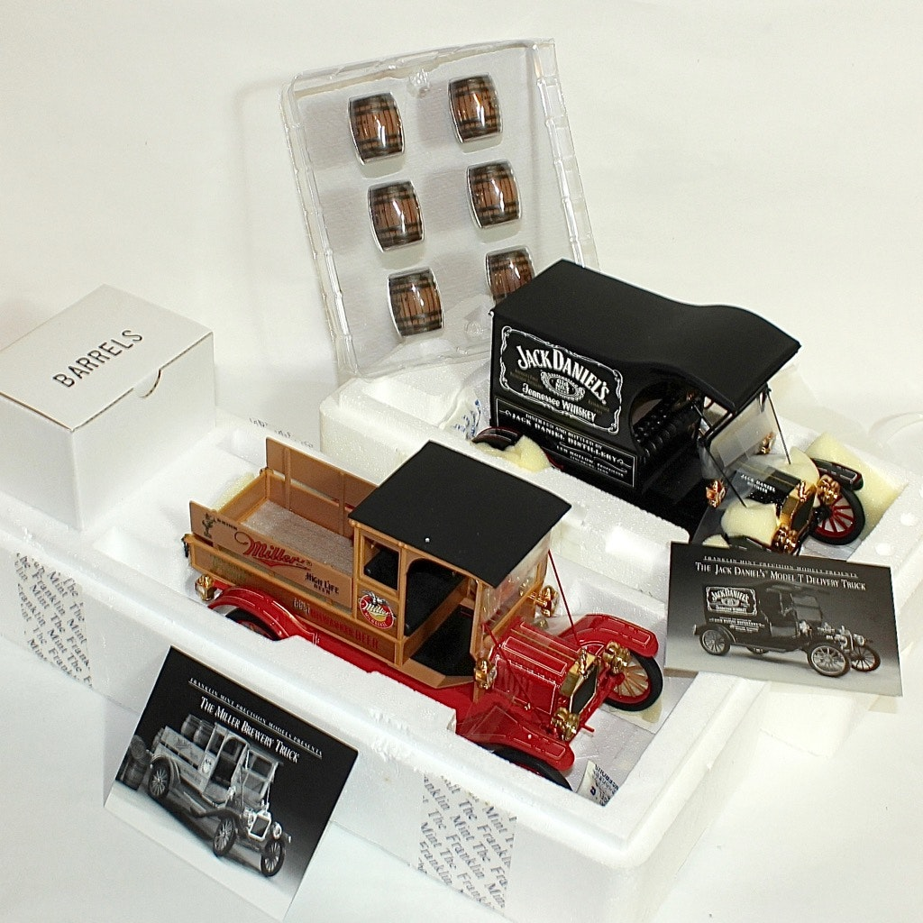Jack Daniels Ford Model T and Miller Brewery Delivery Trucks