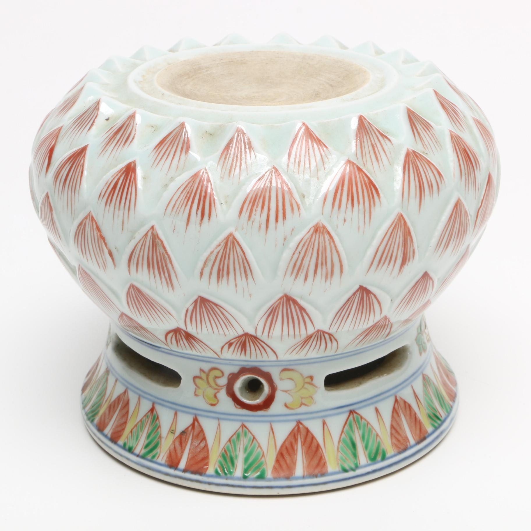 Chinese Ceramic Candle Stand